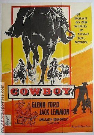 Cowboy (1958 film) Cowboy poster 1958 Glenn Ford original