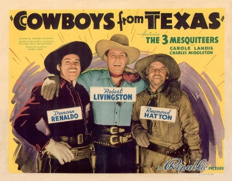 Cowboys from Texas FileCowboys from Texas 1939 posterjpg Wikimedia Commons