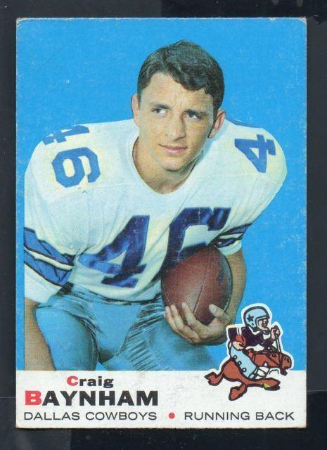 Craig Baynham 1969 Topps Craig Baynham Dallas Cowboys 122 Football Card eBay