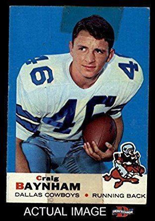 Craig Baynham Amazoncom 1969 Topps 122 Craig Baynham Dallas Cowboys Football