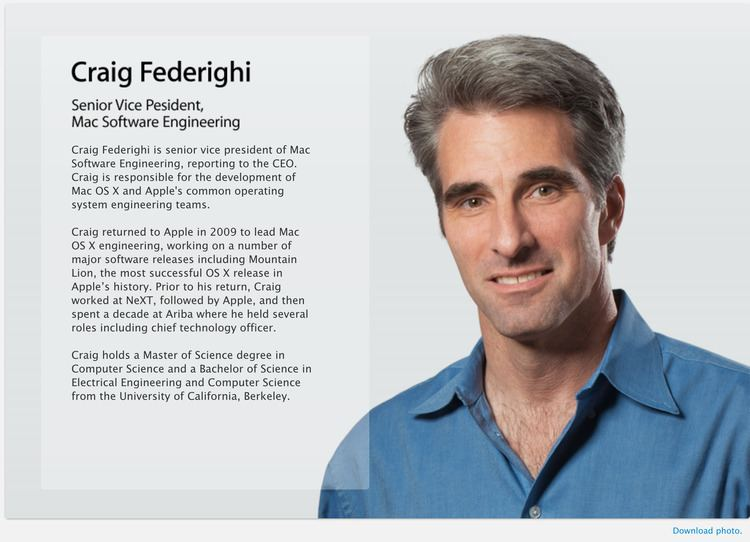 Craig Federighi Craig Federighi and Dan Riccio Join Apple39s Executive Team