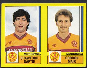 Crawford Baptie Panini Football 1987 Sticker No 544 Motherwell Crawford Baptie