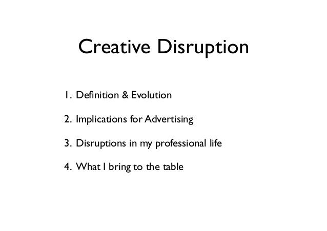 Creative Disruption Creative Disruption A Visual Rsum