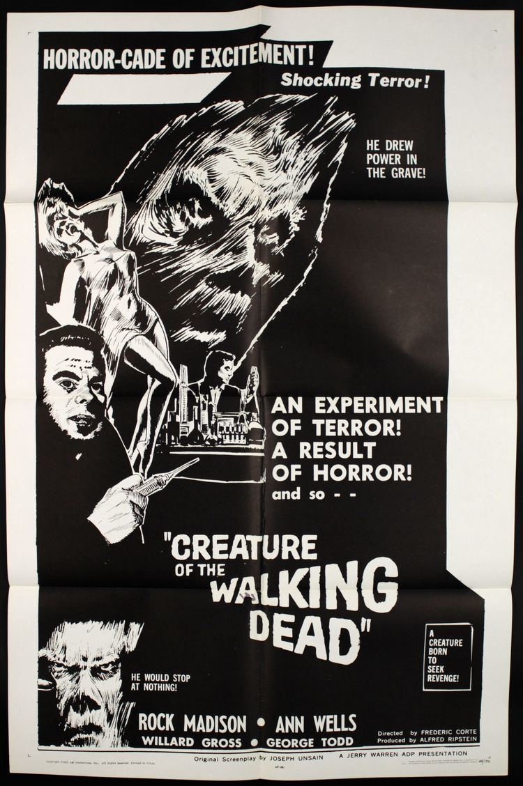 Creature of the Walking Dead A Poor Reimagining Creature of the Walking Dead 1965 The