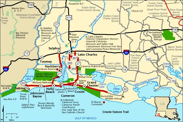Creole Nature Trail Creole Nature Trail Map America39s Byways