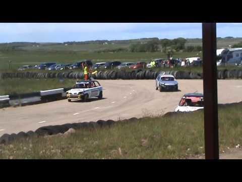 Crimond Raceway crimond raceway juniorstox crash roll june 14th 2015 YouTube