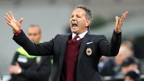 Cristian Brocchi Italian Giants AC Milan Sack Manager Mihajlovic Appoint Brocchi As