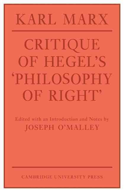 Critique of Hegel's Philosophy of Right t1gstaticcomimagesqtbnANd9GcRX0DaJdVkWHjFXY