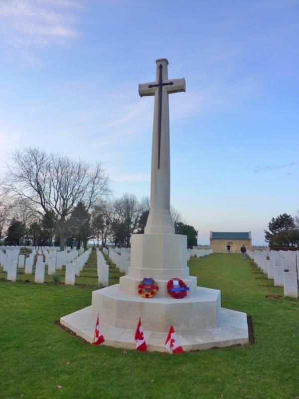Cross of Sacrifice Cross of Sacrifice at BenysurMer Canadian War Cemetery after