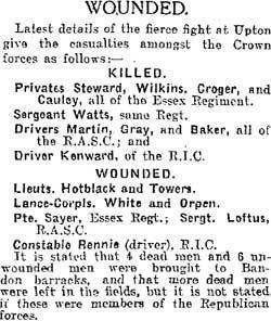 Crossbarry Ambush Crossbarry Ambush 19 Mar 1921