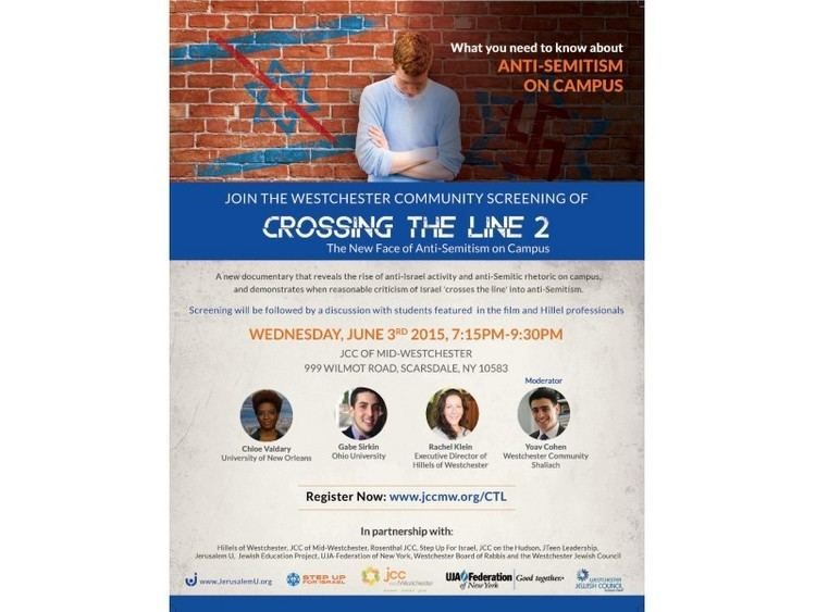 Crossing the Line 2: The New Face of Anti-Semitism on Campus movie scenes What You Need to Know About Anti Semitism on Campus Join the Westchester Jewish community screening of Crossing the Line 2 The New Face