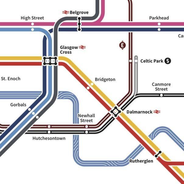 Crossrail Glasgow Graphic designer Angus Doyle designs map for future rail network