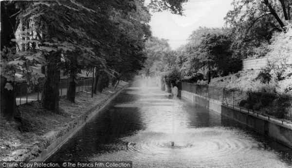 Croydon Canal Penge Old Croydon Canal Betts Park c1965 Francis Frith