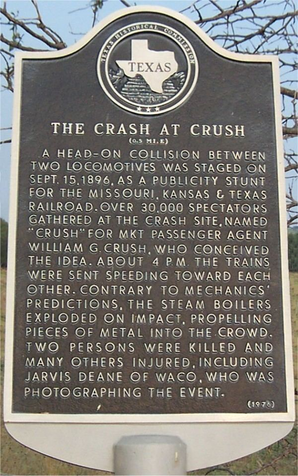Crush, Texas Crash at Crush City of West