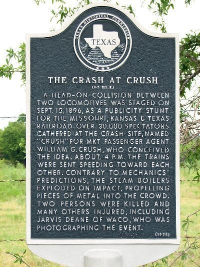 Crush, Texas Crush TX Staged Train Collision Sep 1896 GenDisasters
