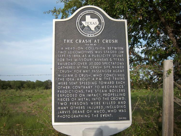 Crush, Texas The Crash at Crush An Organized Train Wreck Sept1896 Clio