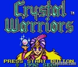 Crystal Warriors Crystal Warriors ROM Download for Sega Game Gear CoolROMcom