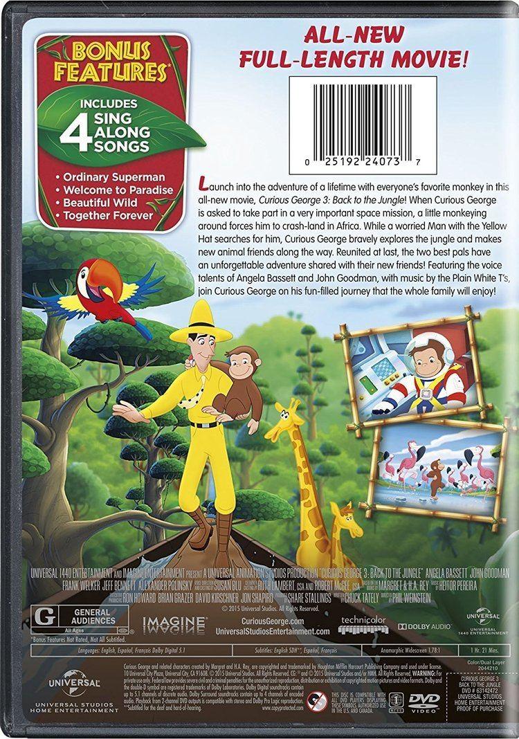 Curious George 3: Back to the Jungle Amazoncom Curious George 3 Back to the Jungle Angela Bassett