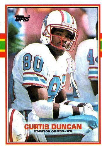 Curtis Duncan HOUSTON OILERS Curtis Duncan 92 TOPPS 1989 NFL American Football