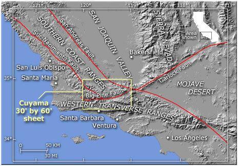 Cuyama Valley Geohydrologic Framework of the Cuyama Valley USGS California Water