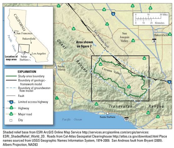 Cuyama Valley Cuyama Valley Study Overview USGS California Water Science Center