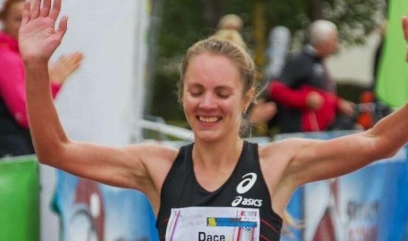 Dace Lina Latvijas empioni maraton Kristaps Brzi un Dace Lina