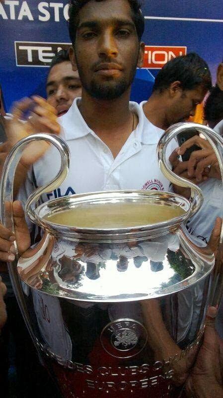 Dada Nabeel Football in Bangalore PICS Dada Nabeel with UEFA Champions League