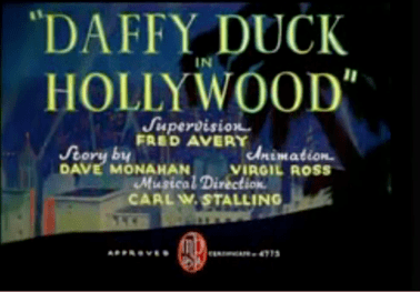 Daffy Duck in Hollywood movie poster