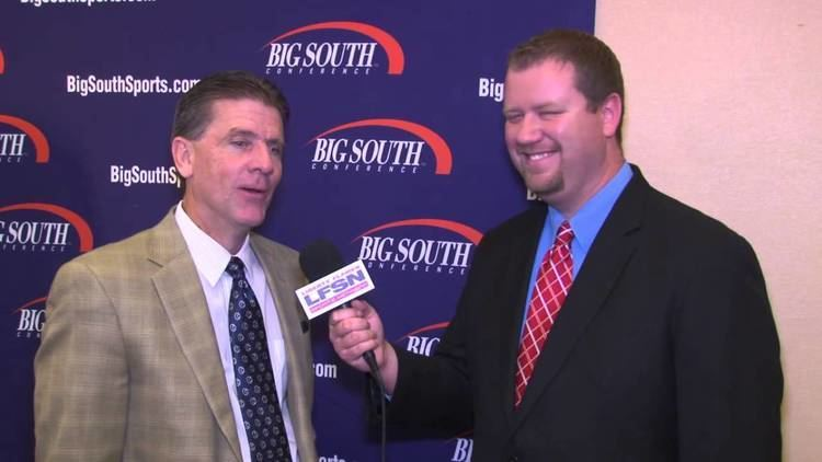 Dale Layer Liberty Mens Basketball Coach Dale Layer at Big South Media Day