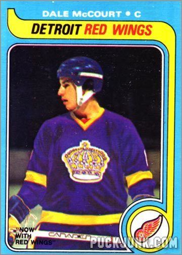 Dale McCourt Card of the Week King for a Day Puck Junk