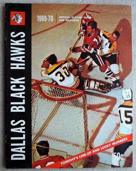 Dallas Black Hawks 196970 Dallas Black Hawks Official Playing Guide GAMEWORNAUCTIONSNET