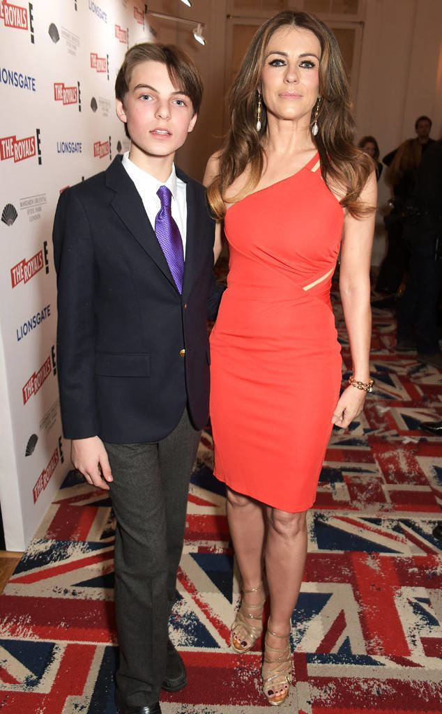 Damian Hurley Elizabeth Hurley39s 12YearOld Son Damian Looks All Grown Up While