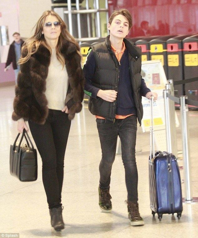 Damian Hurley Elizabeth Hurley and son Damian head home after halfterm break in