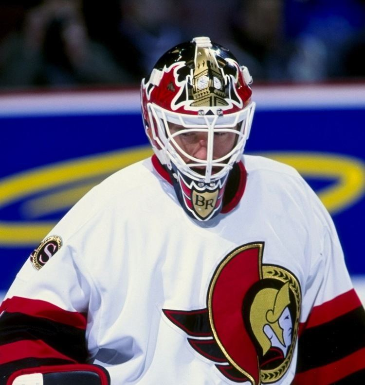 Damian Rhodes Damian Rhodes Game Used Mask Ottawa Senators