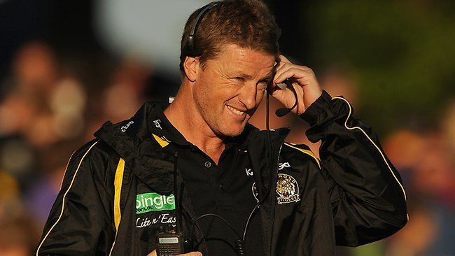 Damien Hardwick Richmond coach Damien Hardwick tries to contain Tiger hype