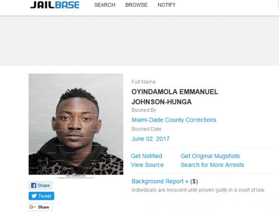 Dammy Krane UPDATE Nigerian Singer Dammy Krane arrested today in Miami US