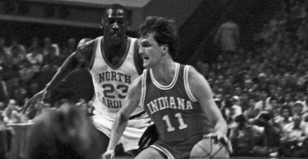 Dan Dakich Throwback Thursday Indiana Hoosier Dan Dakich guards Michael Jordan