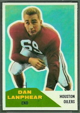 Dan Lanphear Dan Lanphear 1960 Fleer 127 Vintage Football Card Gallery