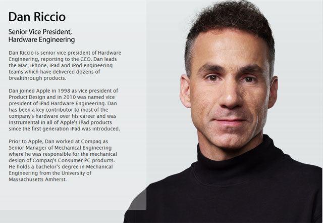 Dan Riccio Perch Dan Riccio SVP di Apple ha venduto il suo