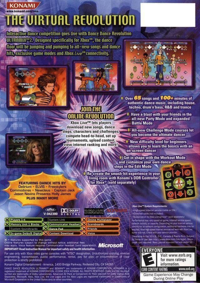 Dance Dance Revolution Ultramix 2 Dance Dance Revolution Ultramix 2 Box Shot for Xbox GameFAQs