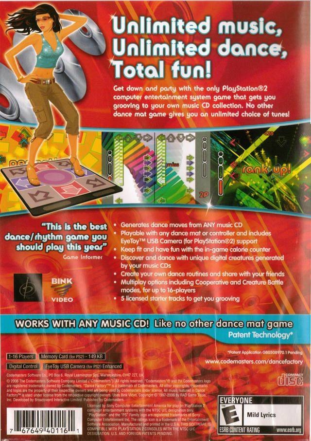 Dance Factory (video game) Dance Factory Box Shot for PlayStation 2 GameFAQs