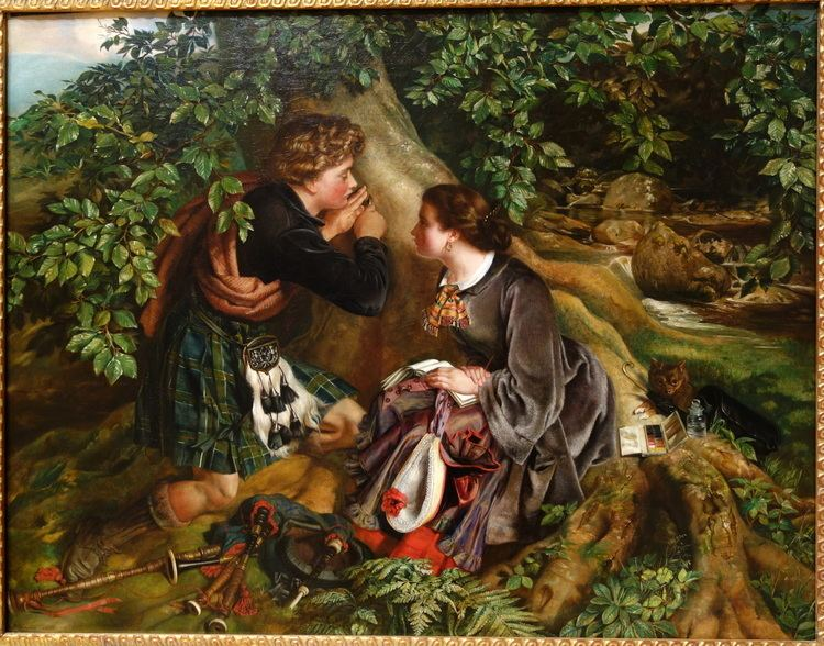 Daniel Maclise FileScottish Lovers by Daniel Maclise 1863 oil on