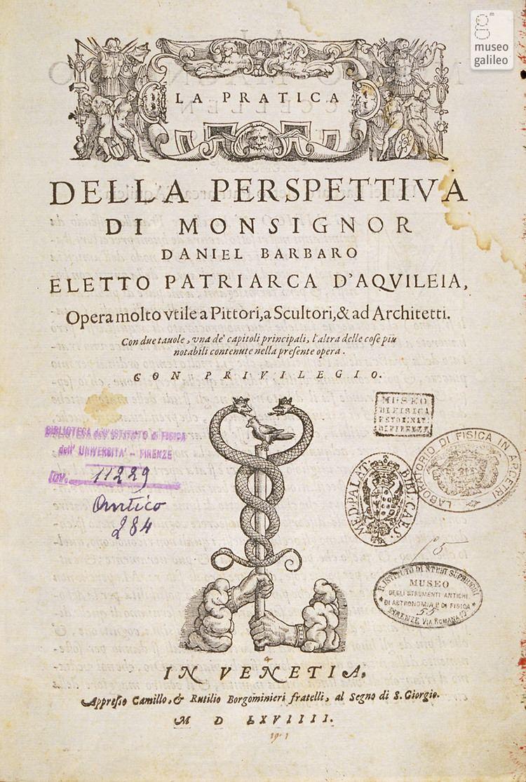 Daniele Barbaro Museo Galileo Daniele Barbaro