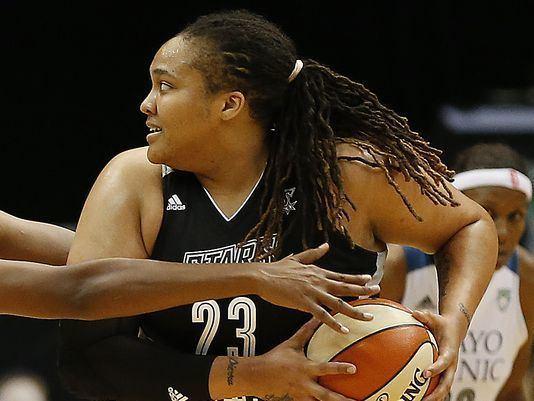 Danielle Adams WNBA suspends San Antonios Danielle Adams three games