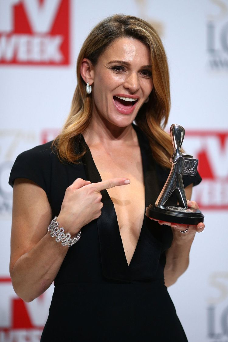 Danielle Cormack Danielle Cormack got excited about her Logie 31 Candid