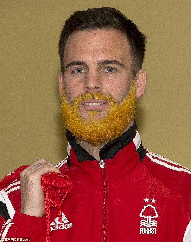 Danny Fox Nottingham Forest defender Danny Fox dyes his beard in