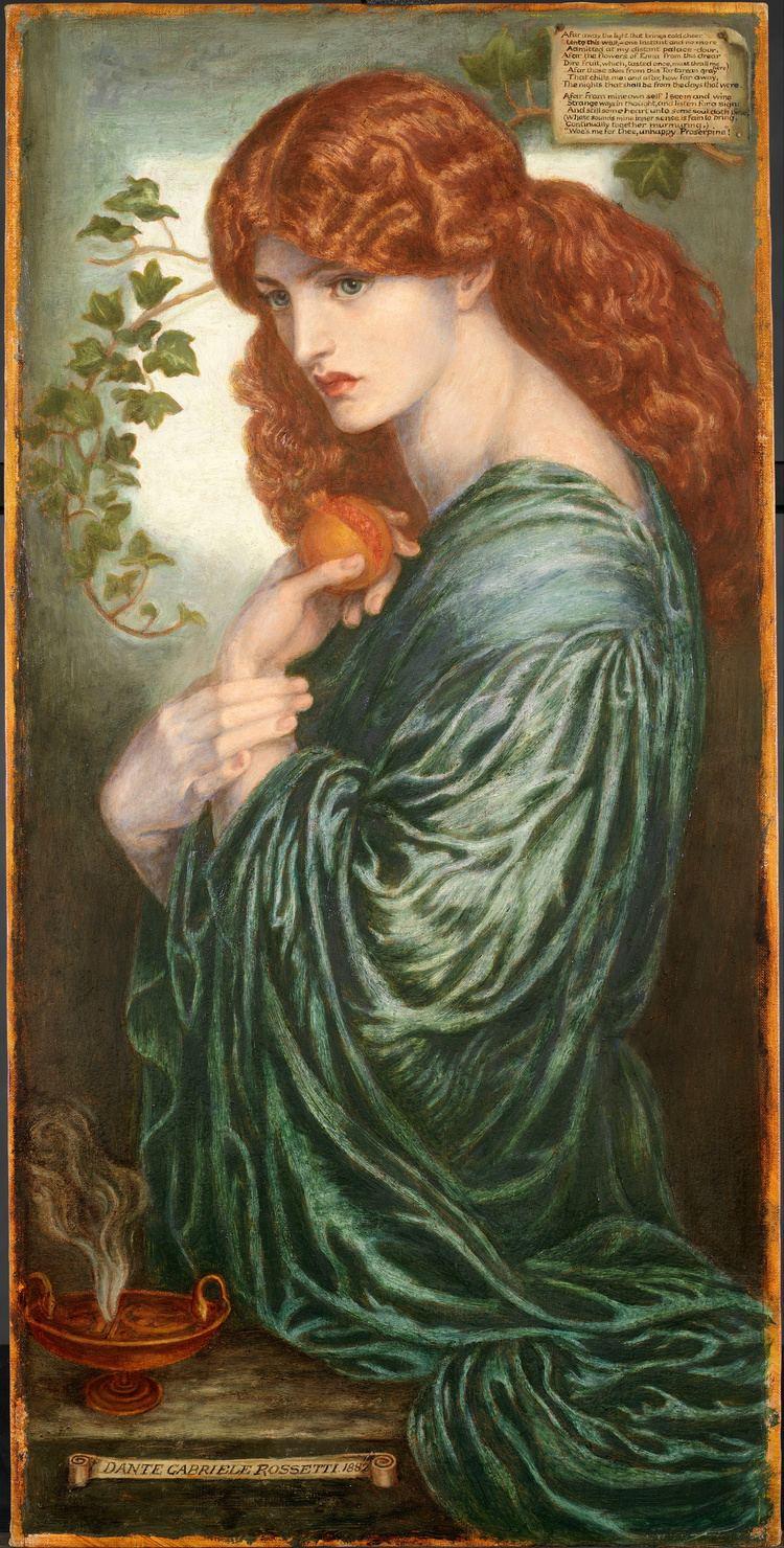 Dante Gabriel Rossetti FileDante Gabriel Rossetti Proserpine Google Art