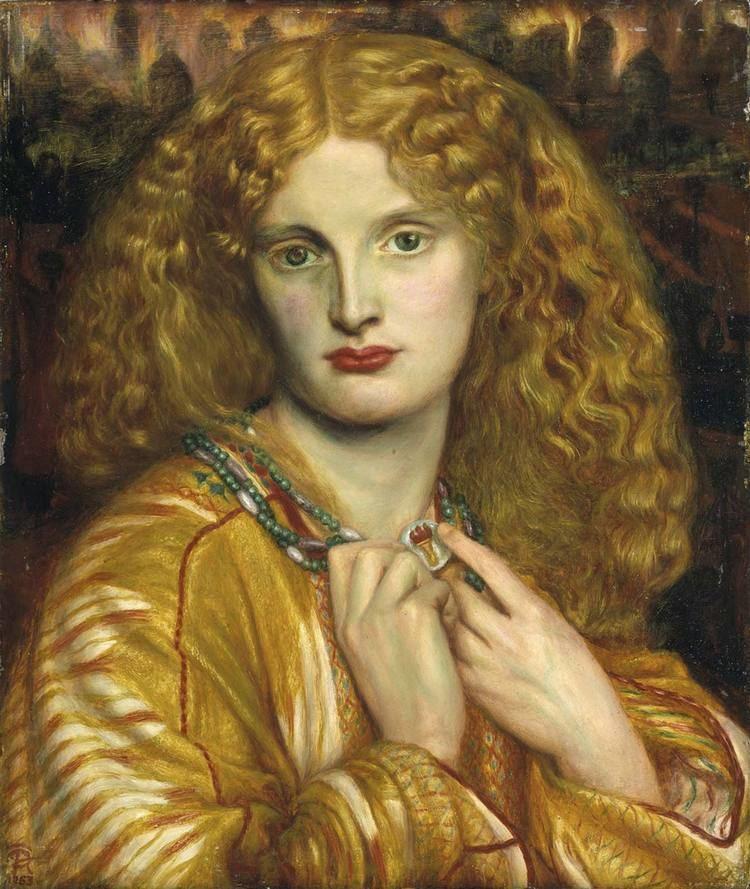 Dante Gabriel Rossetti Helen of Troy Dante Gabriel Rossetti WikiArtorg