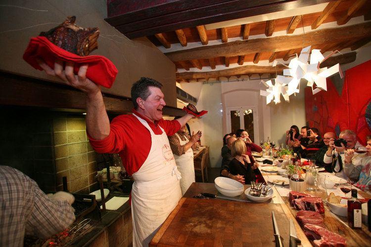 Dario Cecchini Cecchini the Butcher from Panzano Olive in Tuscany