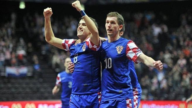 Dario Marinović Dario Marinovi amp Tihomir Novak Croatia Futsal EURO nav